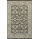 StyleHaven Traditional Border Floral Polypropylene 310 X 55 Brown/Ivory Area Rug (WRIC1330U4X6L)