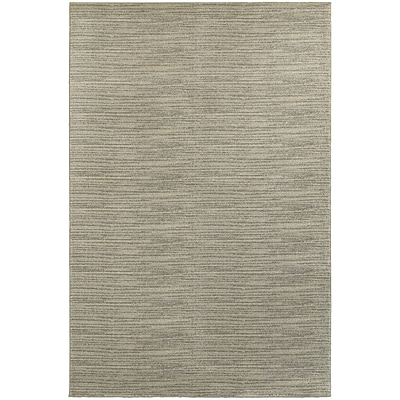 StyleHaven Transitional Distressed Stripe Polypropylene 53X76 Beige/Ivory Area Rug WRIC526A35X8L