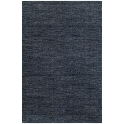StyleHaven Transitional Distressed Stripe Polypropylene 310X55 Navy/Grey Area Rug WRIC526B34X6L