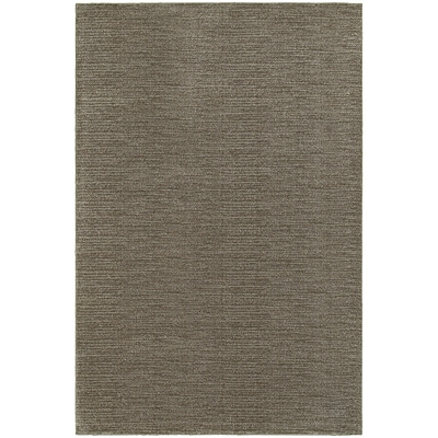 StyleHaven Transitional Distressed Stripe Polypropylene 53X76 Grey/Brown Area Rug WRIC526H35X8L