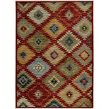 StyleHaven Southwest Tribal Nylon/Polypropylene 710X1010 Red/Multi Area Rug (WSDN5936D8X11L)