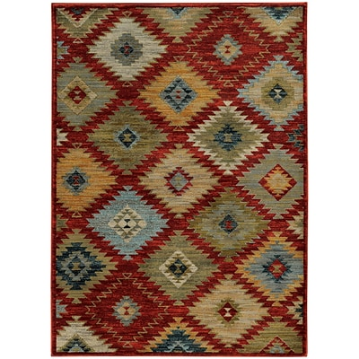 StyleHaven Southwest Tribal Nylon/Polypropylene 310X55 Red/Multi Area Rug (WSDN5936D4X6L)