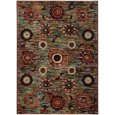 StyleHaven Transitional Multi Floral Nylon/Polypropylene 310 X 55 Multi Area Rug (WSDN6408K4X6L)