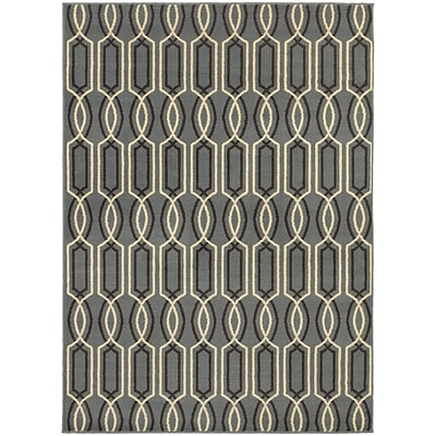 StyleHaven Transitional Geometric Lattice Polypropylene 53X73 Blue/Ivory Area Rug WSTN6019A5X8L