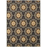 StyleHaven Floral Panel Polypropylene 53 X 73 Blue/Brown Area Rug