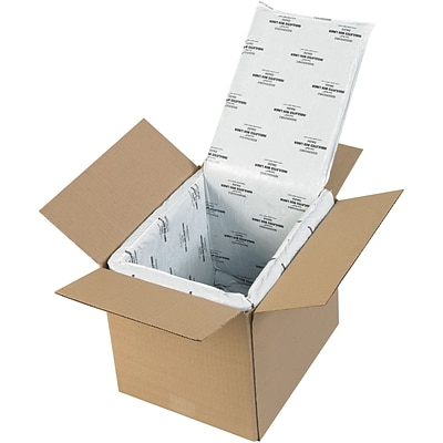 Deluxe Insulated Box Liners, 10 x 8 x 8, White, 5/Case (178CSL)