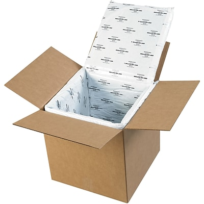Deluxe Insulated Box Liners, 12 x 12 x 12, White, 5/Case (179CSL)