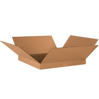 Corrugated Boxes, 18 x 18 x 2, Kraft, 25/Bundle (18182)