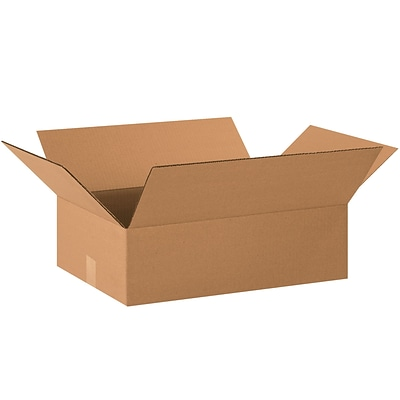 22x16x8 Standard Corrugated Shipping Box, 200#/ECT, 20/Bundle (22168)