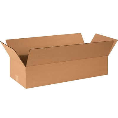 Corrugated Boxes, 26 x 10 x 4 Kraft, 25/Bundle (26104)