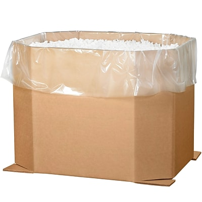 Partners Brand Triple Wall Octagon Bulk Bins, 46 x 38 x 36, Kraft, 5/Bundle (463836OCT)