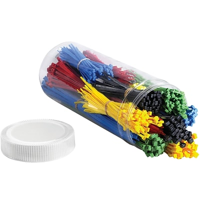 Partners Brand Cable Tie Kit , Assorted, Assorted Colors, 1000/Case (CTKIT15)