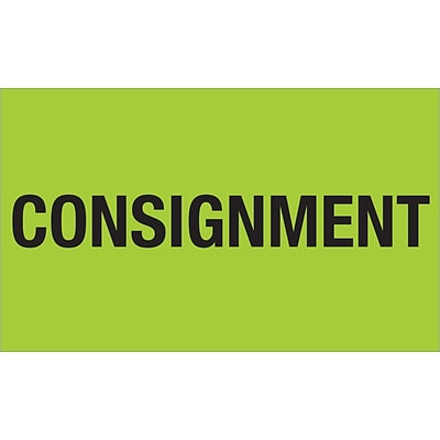Tape Logic® Labels, Consignment, 3 x 5, Fluorescent Green, 500/Roll (DL1322)