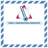 Tape Logic® Time And Temperature Sensitive Labels; 4 1/4 x 4 1/4, Red/Blue, 500/Roll (DL1394)