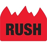 Tape Logic® Flame Labels; Rush (Bill of Lading), 1 1/2 x 2, Red/Black, 500/Roll (DL1401)