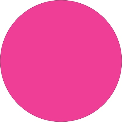 Tape Logic® Inventory Circle Labels, 3/4, Fluorescent Pink, 500/Roll (DL610K)