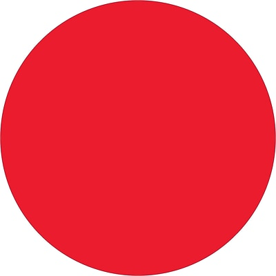 Tape Logic® Inventory Circle Labels, 3/4, Fluorescent Red, 500/Roll (DL610G)