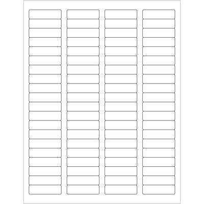 Tape Logic® Laser Labels, Rectangle, 1 3/4 x 1/2, White, 8000/Case (LL109)