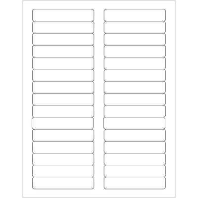 Tape Logic® Laser Labels, Rectangle, 3 7/16 x 2/3, White, 3000/Case (LL120)
