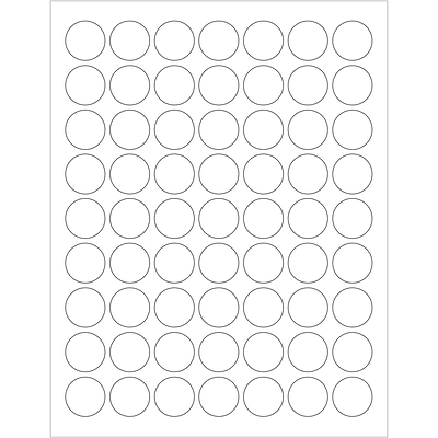 Tape Logic® Laser Labels, 1 Circle, White, 6300/Case (LL142)