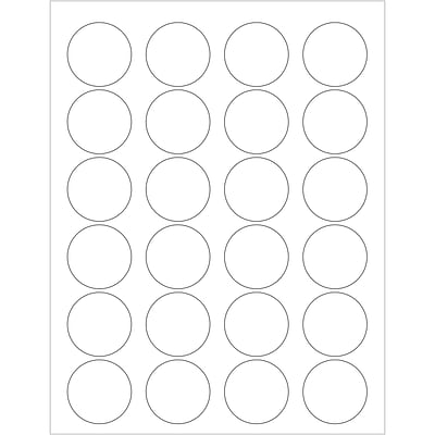 Tape Logic® Laser Labels, 1.625 Circle, White, 2400/Case (LL144)