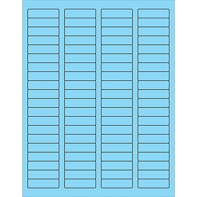 Tape Logic® Rectangle Laser Labels, 1 3/4 x 1/2, Pastel Blue, 8000/Case (LL170BE)