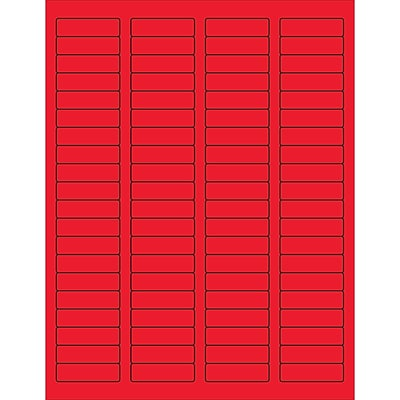 Tape Logic® Rectangle Laser Labels, 1 3/4 x 1/2, Fluorescent Red, 8000/Case (LL170RD)
