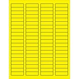 Tape Logic® Rectangle Laser Labels; 1 3/4 x 1/2, Fluorescent Yellow, 8000/Case (LL170YE)