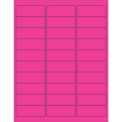 Tape Logic® Rectangle Laser Labels, 2 5/8 x 1, Fluorescent Pink, 3000/Case (LL173PK)