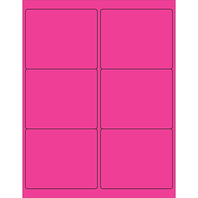 Tape Logic® Rectangle Laser Labels, 4 x 3 1/3, Fluorescent Pink, 600/Pack (LL180PK)