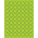 Tape Logic® Circle Laser Labels; 1, Fluorescent Green, 6300/Case (LL191GN)