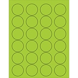 Tape Logic® Circle Laser Labels; 1 5/8, Fluorescent Green, 2400/Case (LL193GN)