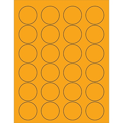 Tape Logic® Circle Laser Labels, 1 5/8, Fluorescent Orange, 2400/Case (LL193OR)
