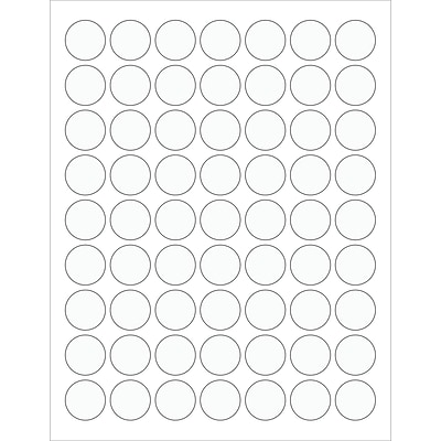 Tape Logic® Circle Laser Labels, 1, Clear, 6300/Case (LL230CL)
