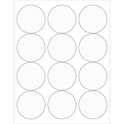 Tape Logic® Circle Laser Labels, 2 1/2, Clear, 1200/Case (LL232CL)