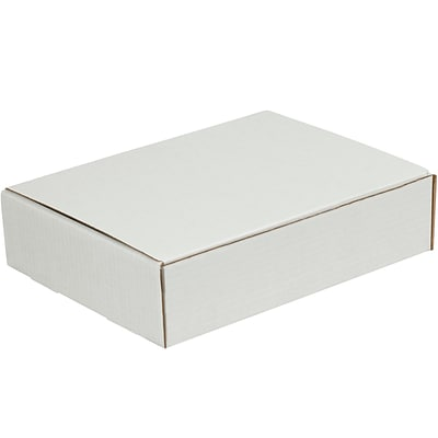 Literature Mailers, 10 x 9 x 3, White, 50/Bundle (ML1093)