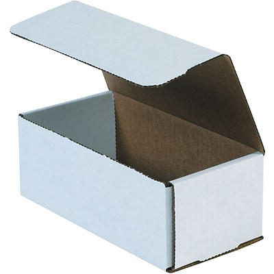 Corrugated Mailers, 12 x 5 x 4, White, 50/Bundle (M1254)