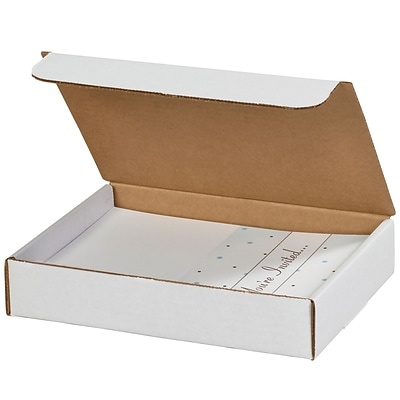 Literature Mailers, 8 x 7 x 2, White, 50/Bundle (ML872)