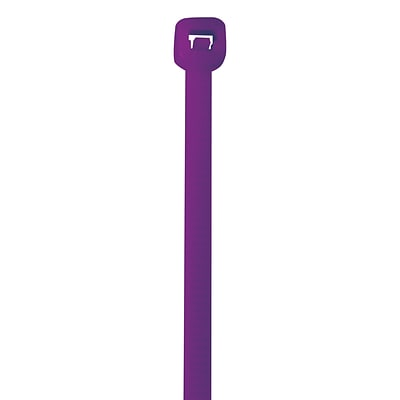 Partners Brand Cable Ties, 50#, 18, Purple, 500/Case (CT185E)