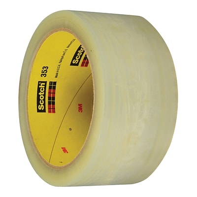 3M™ Scotch  353 Carton Sealing Tape, 2 x 55 yds., Clear, 36/Case (72324-7)