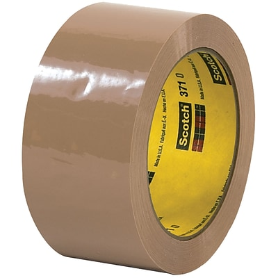 3M™ Scotch  371 Carton Sealing Tape, 2 x 55 yds., Tan, 6/Case (T901371T6PK)