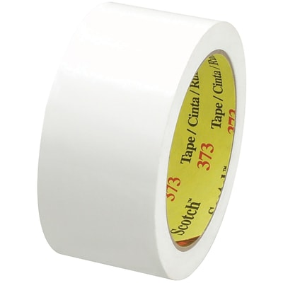 3M™ Scotch  373 Carton Sealing Tape, 2 x 55 yds., White, 36/Case (72389-6)