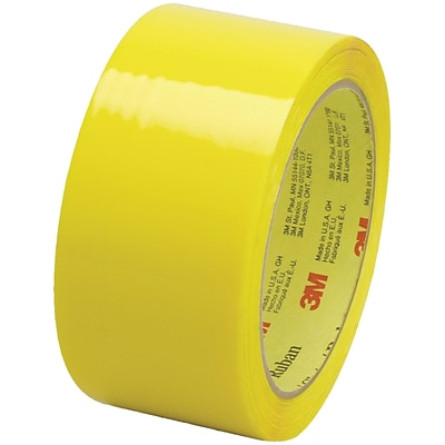 3M™ Scotch  373 Carton Sealing Tape, 2 x 55 yds., Yellow, 6/Case (T901373Y6PK)