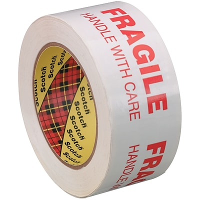 3M™ Scotch  3772 Printed Message Tape, 2 x 110 yds., White/Red, 6/Case (T90237726PK)