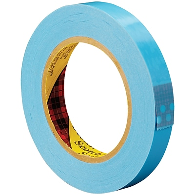 3M™ Scotch  8896 Strapping Tape, 3/4 x 60 yds., Blue, 12/Case (T914889612PK)