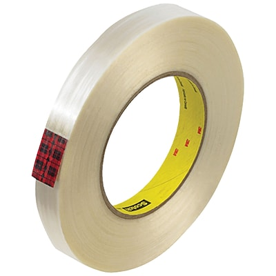 3M™ Scotch  890MSR Strapping Tape, 3/4 x 60 yds., Clear, 48/Case (74058-6)