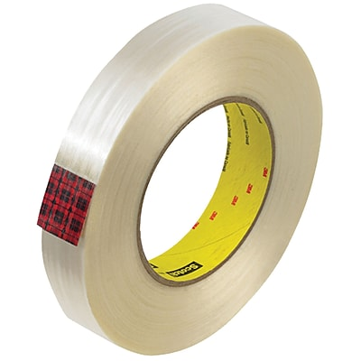 3M™ Scotch  890MSR Strapping Tape, 1 x 60 yds., Clear, 12/Case (T915890M12PK)