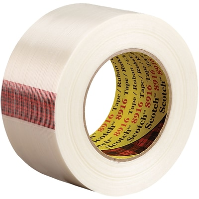 3M™ Scotch  8916 Strapping Tape, 2 x 60 yds., Clear, 24/Case (73190-7)
