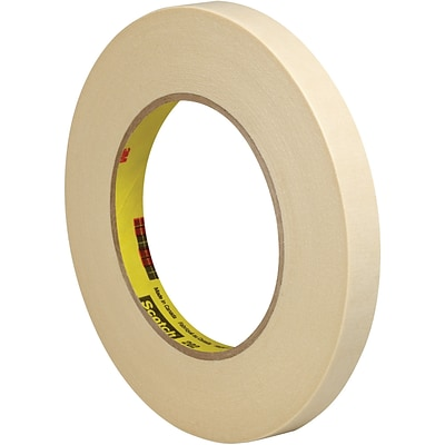 3M™ Scotch  202 Masking Tape, 1/2 x 60 yds., Natural, 72/Case (02812-0)