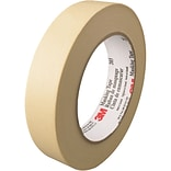3M™ 203 Masking Tape, 1 x 60 yds., Natural, 12/Case (T93520312PK)